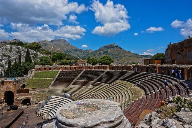 Antikes Theater in Taormina_Sizilien_lzn
